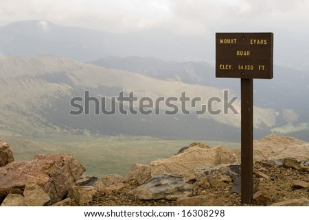 This is the top of Mount Evans Road in Colorado, one of the highest road in the USA