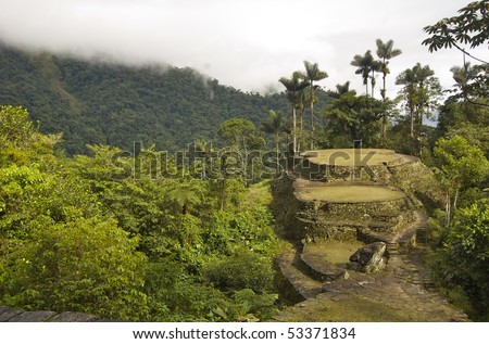 This is the view from the top terrace at Ciudad Perdida, the lost city in Colombia.  Pre-incan.
