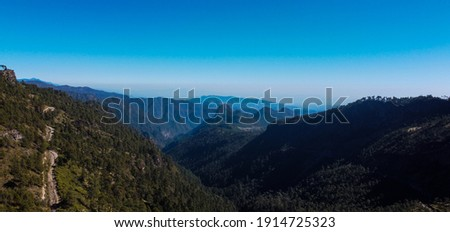 This is the view of the eastern Sierra Madre in Mexico at the height of the state of Veracruz Foto stock ©