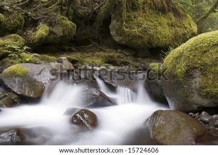 This is Upper Multnomah Falls Long Exposure