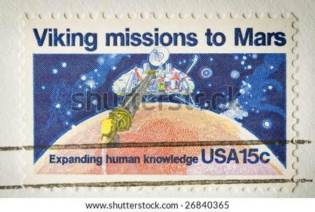 This is Viking Missions to Mars stamp