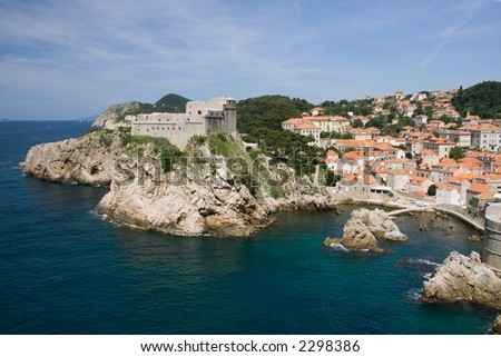 This medieval fortress guards the northern side of the Croat city of Dubrovnik.