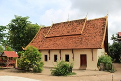 This old chapel has been restored. And perfectly preserved, beautiful Wat Udom Sapphol was built in 1900  Ban Pako, Village No. 2, Pako Sub-district, Mueang Nong Khai District, Nong Khai Province