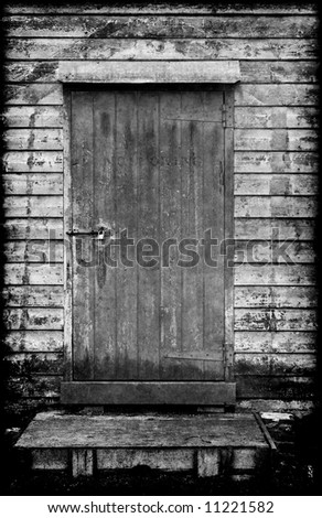 this old wooden door always remains locked