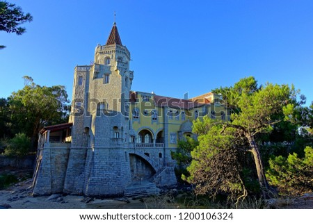 This Palace at Cascais, Portugal has a private beach is an architectural interesting building. Elaborate mixture of mock gothic, classical Portuguese elements and Arabian stone work an arches