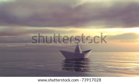 This paper boat sailing towards the unknown.
