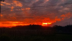 This photo is taken when im travel and see the moment of red crimson in the sky