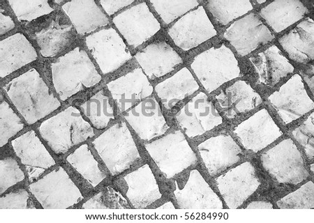 This photo shows a hand made pavement.