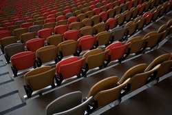 This photo was taken for Stadium amphitheater chairs in saudia arabia jeddah city in 18 Nov 2020