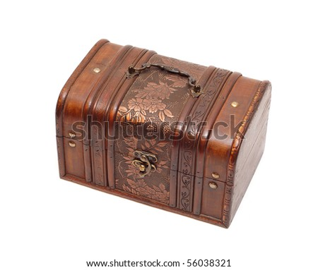 This photograph shows the treasure chest