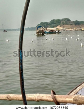 this pic click while riding on boat .