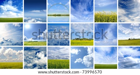 This picture is made of nine different types of clouds. Very good as illustration.