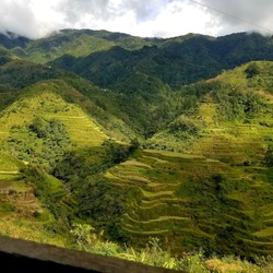 This picture shows the famous Banaue Rice Terraces of Benguet in the Philppines.