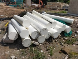 This polystyrene is used to allow silt curtain to float on water. A temporary sediment control barrier consisting of a vertically suspended geosynthetic fabric installed within a body of water.