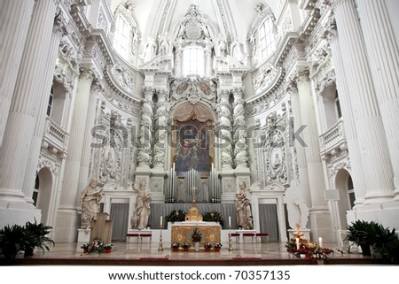 Roman Catholic Church In Italy http://www.shutterstock.com/pic-70357135/stock-photo-this-roman-catholic-is-an-italian-high-baroque-style-church-in-munich-germany.html