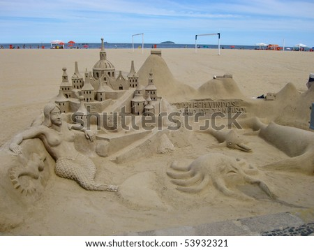 This sand sculpture was in Copacabana/Ipanema