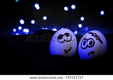 This tow egg are like a one sweet romantic couple. where a boy is naughty and girl is sweet simple.