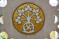 This tree logo means life, founded on an old church inside a dutch's soldiers graveyard in Indonesia