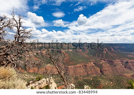 This view was taken from the remote Monument Point on the North rim of the Grand Canyon in Arizona.