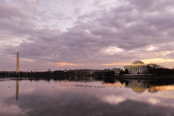 Thomas Jefferson Memorial at sunset - Washington DC, United States of America