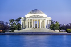 Thomas Jefferson Memorial, Dusk, National Mall, Washington D.C., USA