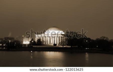 Thomas Jefferson Memorial, Washington DC United States - stock photo