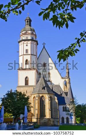 Thomaskirche in Leipzig, Germany - stock photo