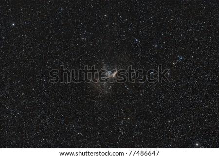 Thor's Helmet (NGC 2359) gazes across a lovely star field.