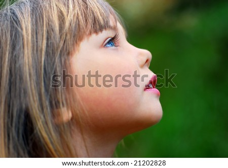 thoughtful little girl