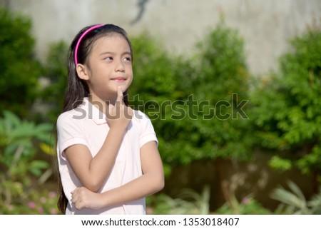 Thoughtful Petite Minority Female