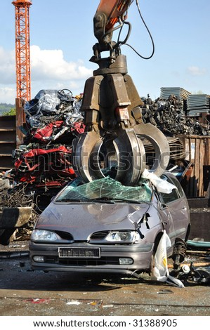 Thousands of old cars will be destroyed at the scrapyard in Germany