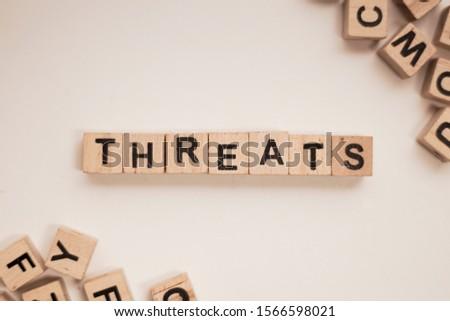 Threats word on white background #1566598021