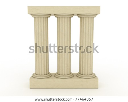 Three ancient columns of marble 1