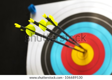 three arrows with a perfect score
