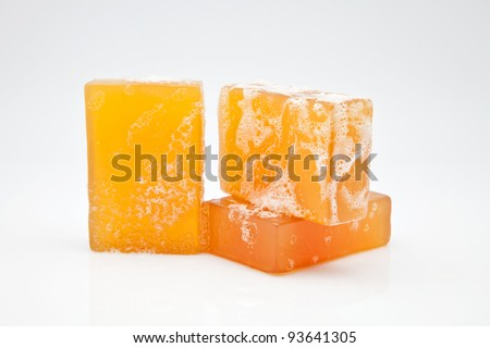 three bars of glycerine soap