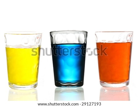three cocktail glass