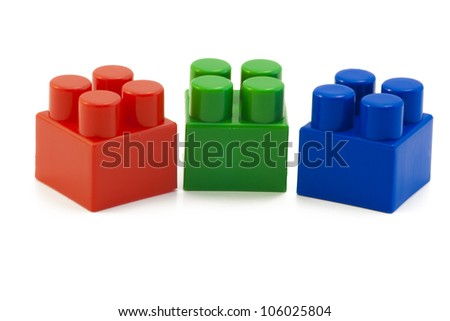 Three color cube. This is the basis of the color scheme RGB - stock photo