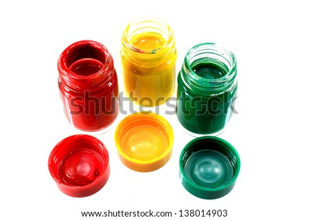 three color gouache