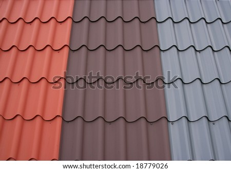 Three color roof tiles