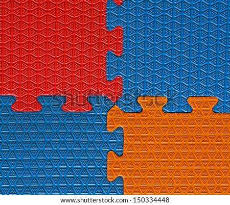 Three Color Rubber Floor Abstract Background