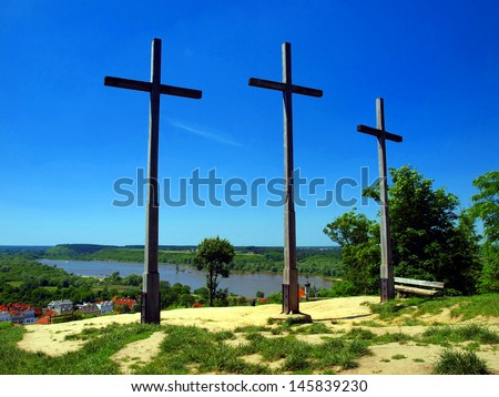 Three Crosses' Hill in Kazimierz Dolny, Poland - Christian Crosses