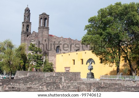 Three Culture square, Mexico City - stock photo