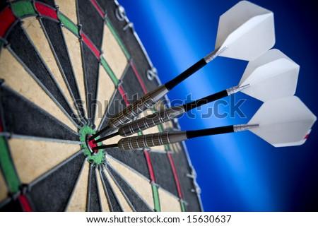 Three darts in the bulls eye