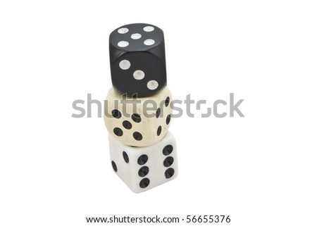 Three different dice #56655376