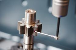 three dimension coordinate cogwheel measuring with sensor