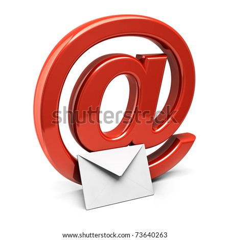 Three dimension sign of e-mail