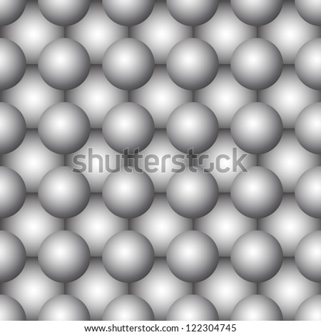 Three-dimensional abstract spherical seamless background