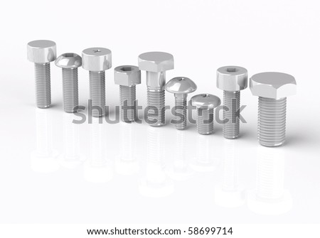 Three-dimensional granting of different bolts