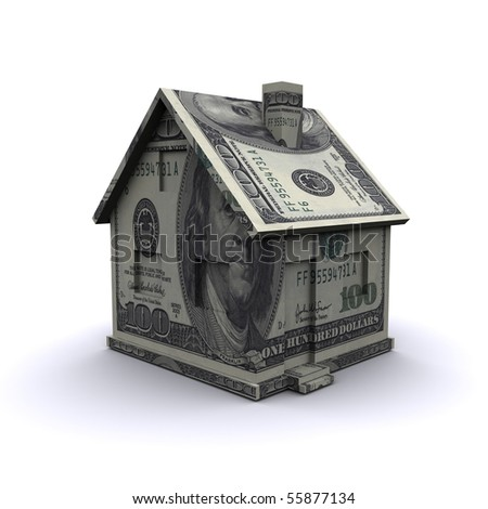 Three-dimensional house of banknotes