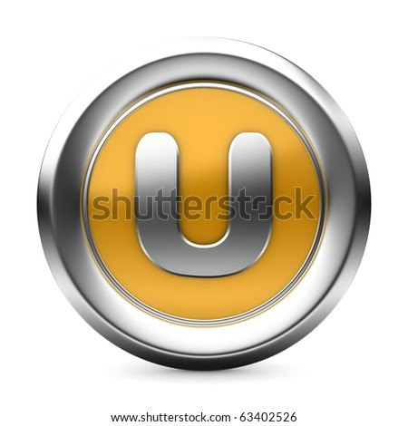 three-dimensional icon is yellow letters